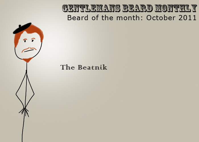 Beard of the month: October 2011 : The Beatnik
