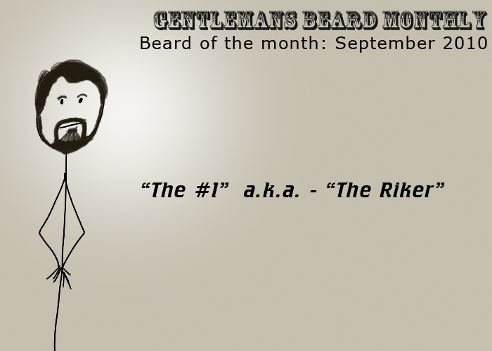 Beard of the Month: September 2010: The #1